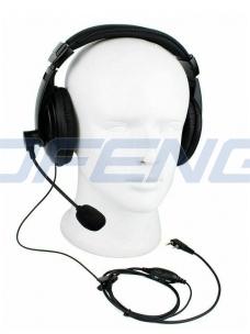 Ausinės didelės su mikrofonu prie burnos