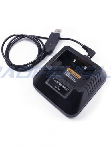 USB kroviklis 3.5 mm jungiamas į krovimo stovą 2