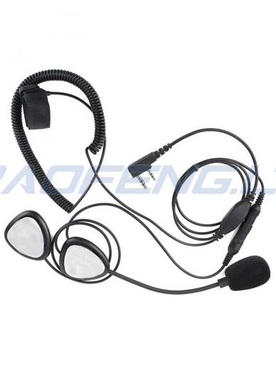 Uždaro/atviro šalmo ausinių komplektas 2